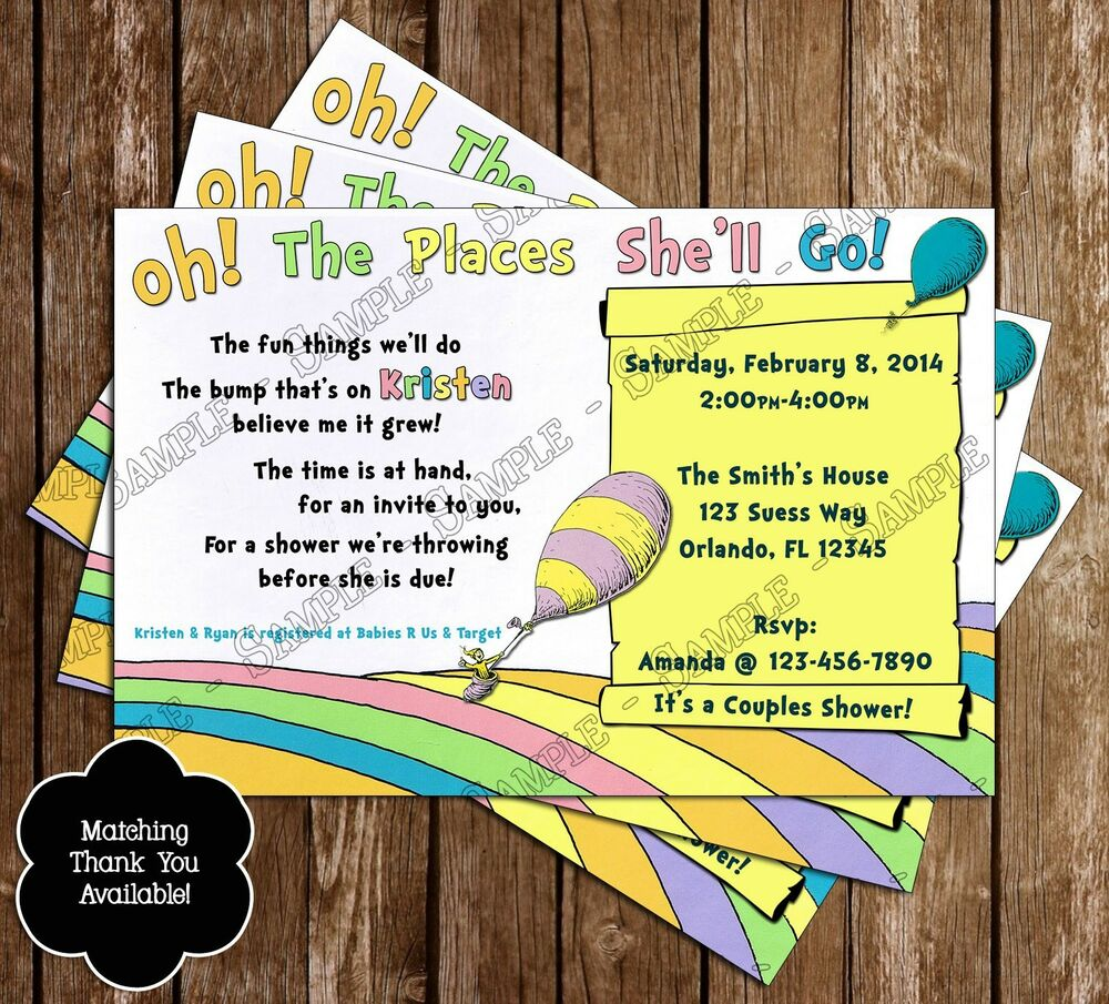 Fancy Oh The Places You Ll Go Baby Shower Invitations Collection ...