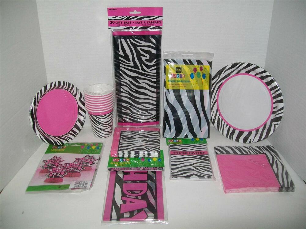 Zebra fun zebra passion hot pink party supplies for Decoration zebre