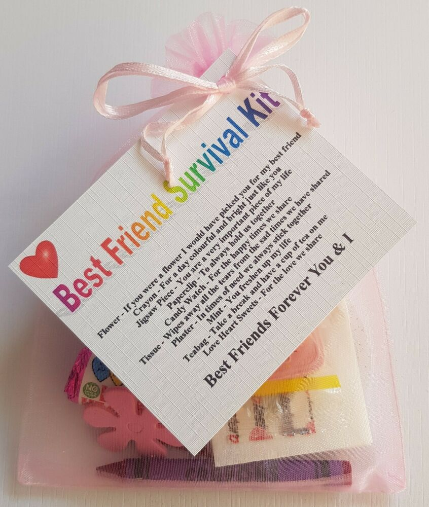37 Unique Birthday Gifts For Her: BEST FRIEND Survival Kit Birthday Keepsake Gift Present