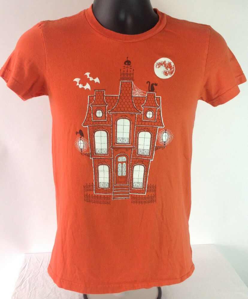 American apparel classic girl halloween t shirt haunted for All american classic shirt
