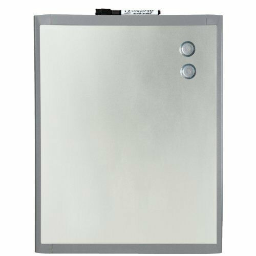 Metal Dry Erase Board : Quartet stainless steel finish magnetic dry erase board