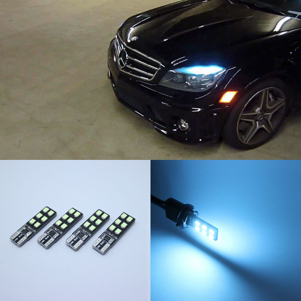 4x ice blue led error free eyebrow eyelid light for for Led light for mercedes benz