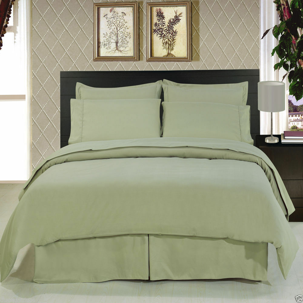 8pc Luxury Soft Sage Green Bedding W Microfiber Sheets
