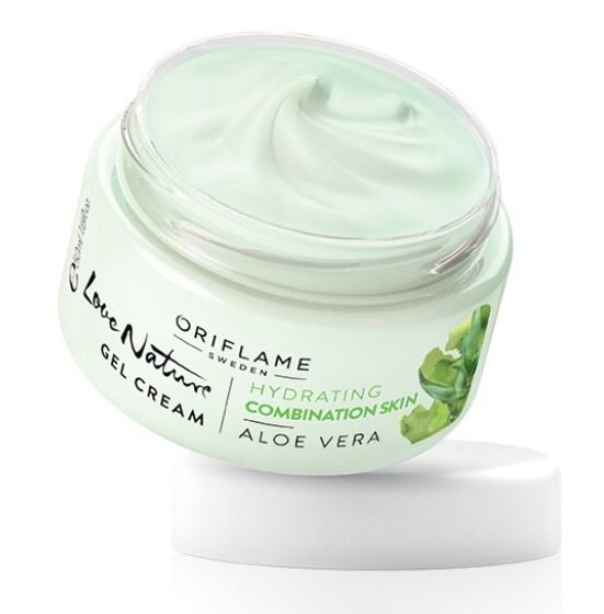 oriflame love nature gel cream hydrating combination skin aloe vera 50ml new ebay. Black Bedroom Furniture Sets. Home Design Ideas