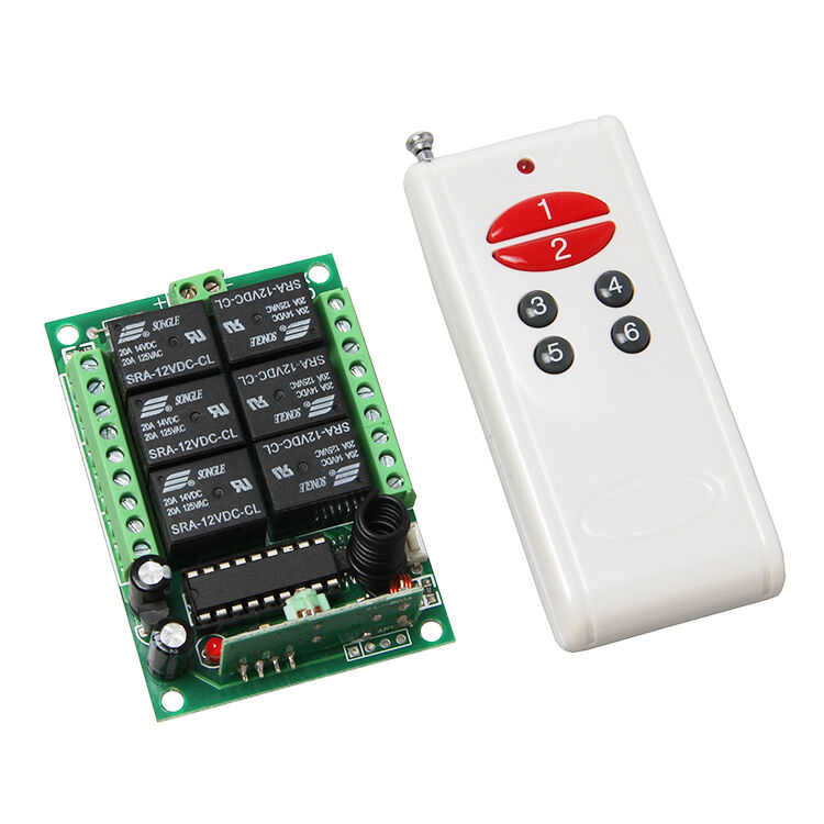 Dc 12v 6 Channel 315mhz Relay Remote Control Module Switch