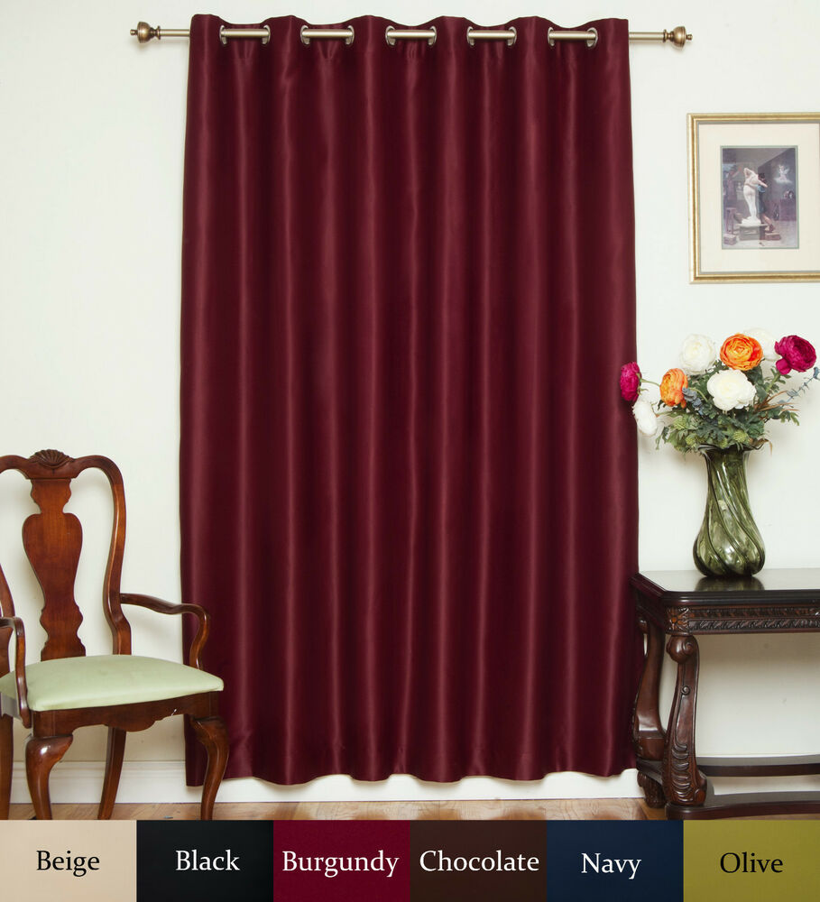 "Returned Item Wide Width Nickel Grommet Top Blackout Curtain 80"" by ..."