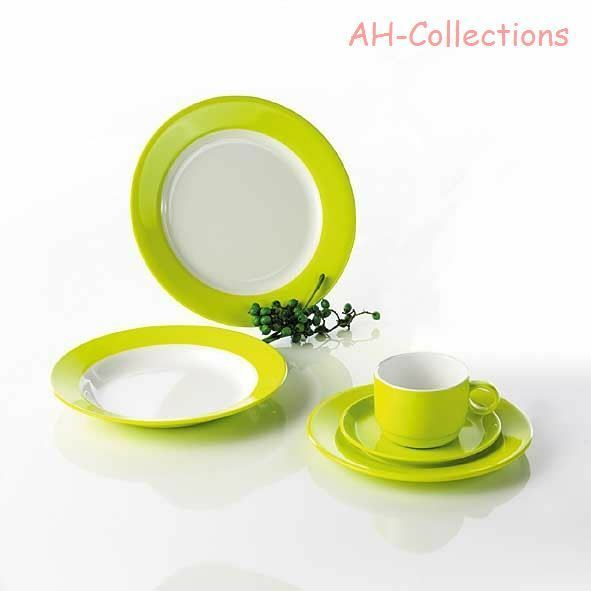 gimex melamin 20 tlg camping geschirr set lime green lemon green dinnerware ebay. Black Bedroom Furniture Sets. Home Design Ideas