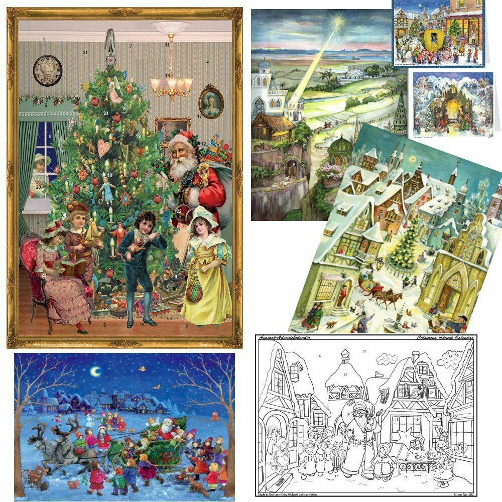 Beautiful German Vintage Amp Traditional Advent Calendars 2