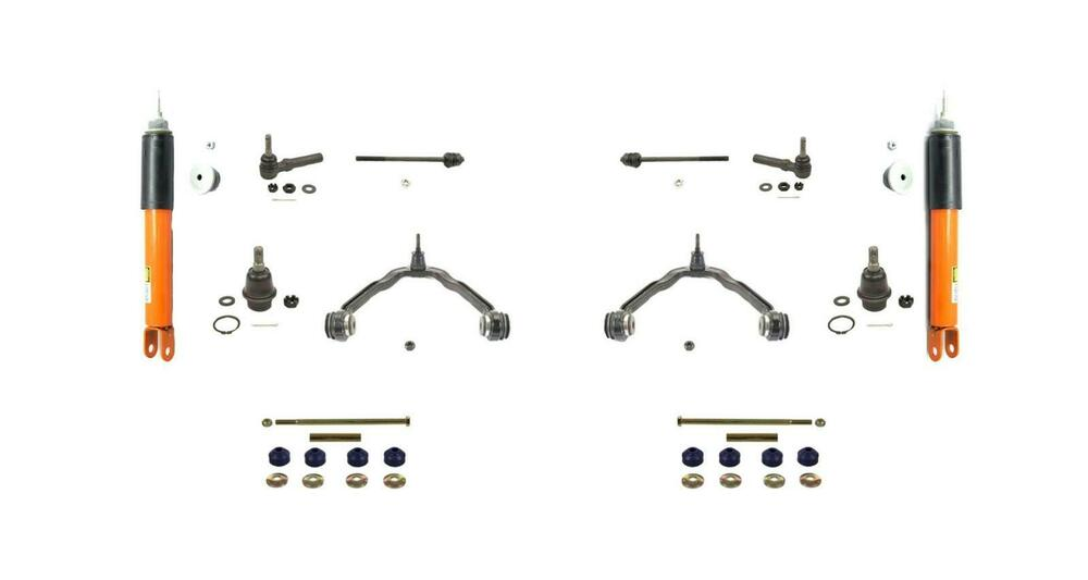 2  monroe 40044 electronic front shocks with chassis kit