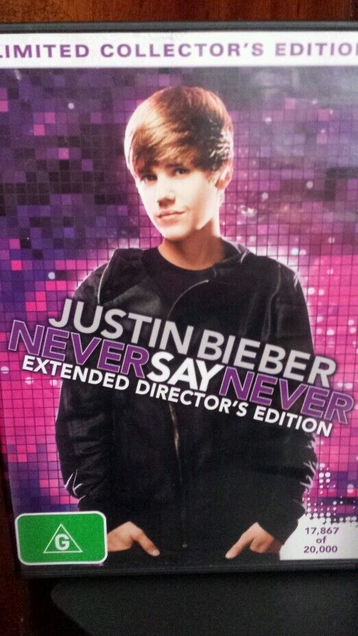 Justin Bieber Never Say Never Limited Collector's Edition DVD MOVIE | eBay