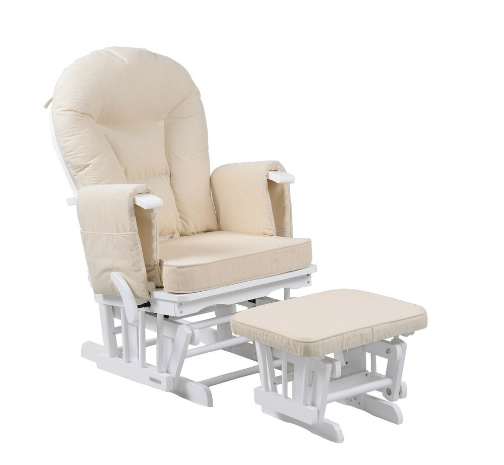 Sereno White Glider Maternity Rocking Chair With Footstool SRP 299 EBay