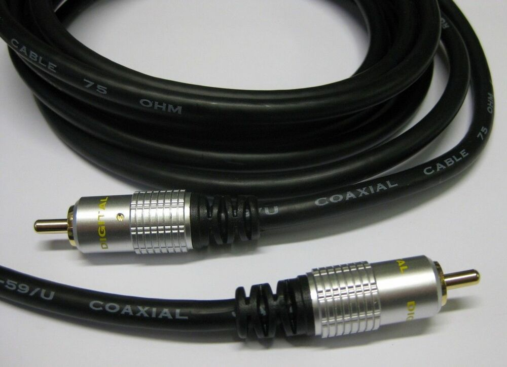 hq digital audio coaxial lead cable spdif 3m ebay. Black Bedroom Furniture Sets. Home Design Ideas