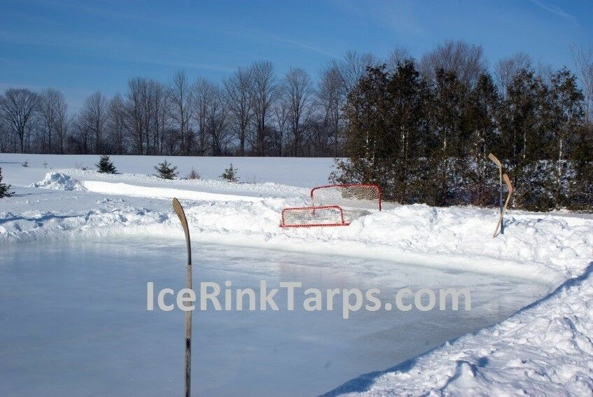 Ice Rink Tarp Liner 40ft x 60ft Heavy Duty Backyard Hockey Rink Liner