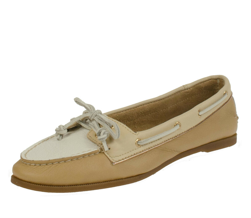 9 5m sperry top sider sand blond gold womens slip