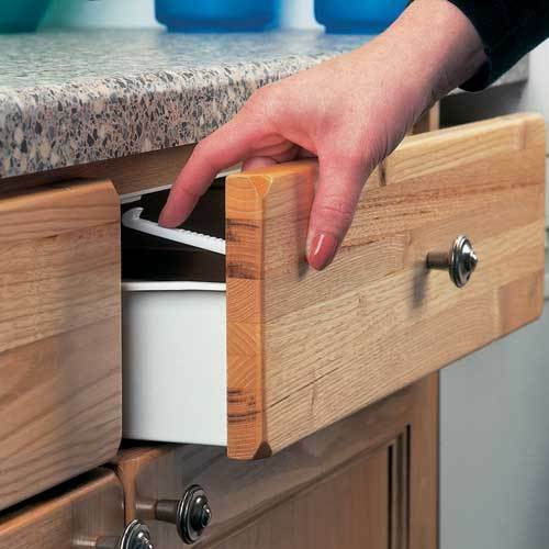 clippasafe cupboard drawer lock secure catches 6 pack safety baby child proofing ebay. Black Bedroom Furniture Sets. Home Design Ideas