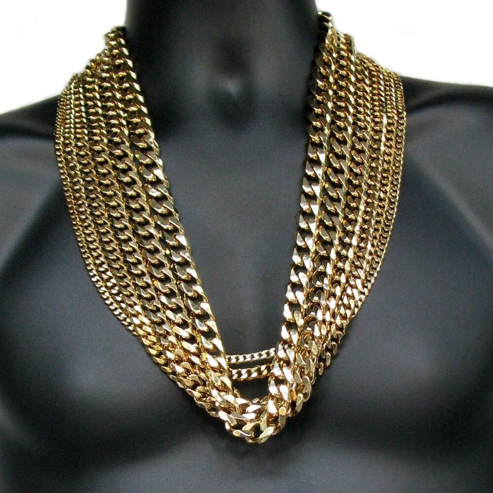 cuban link chain gold plated 5mm 14mm stainless steel. Black Bedroom Furniture Sets. Home Design Ideas