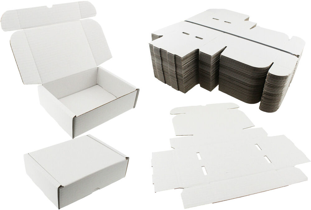 white shipping boxes postal mailing gift wedding packet. Black Bedroom Furniture Sets. Home Design Ideas