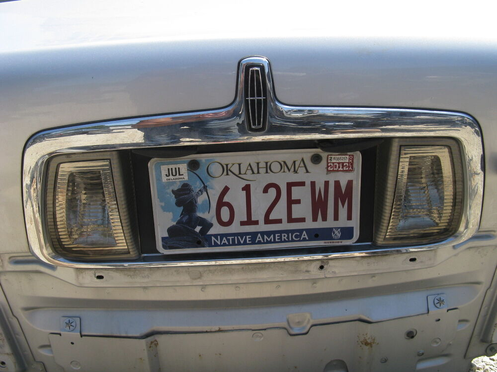 Rear Plate Assy : Lincoln ls rear chrome license plate light