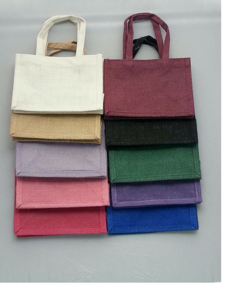 Jute Gift Bag Eco Friendly Hessian Bags With Handles Small