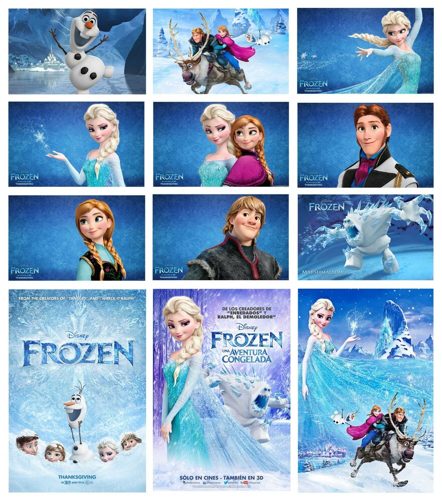 FROZEN MOVIE POSTER WIDE OPTIONS KIDS BEDROOM A4 A3 BUY 2 ...