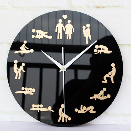 wall clock fun boudoir home decor creative modern design