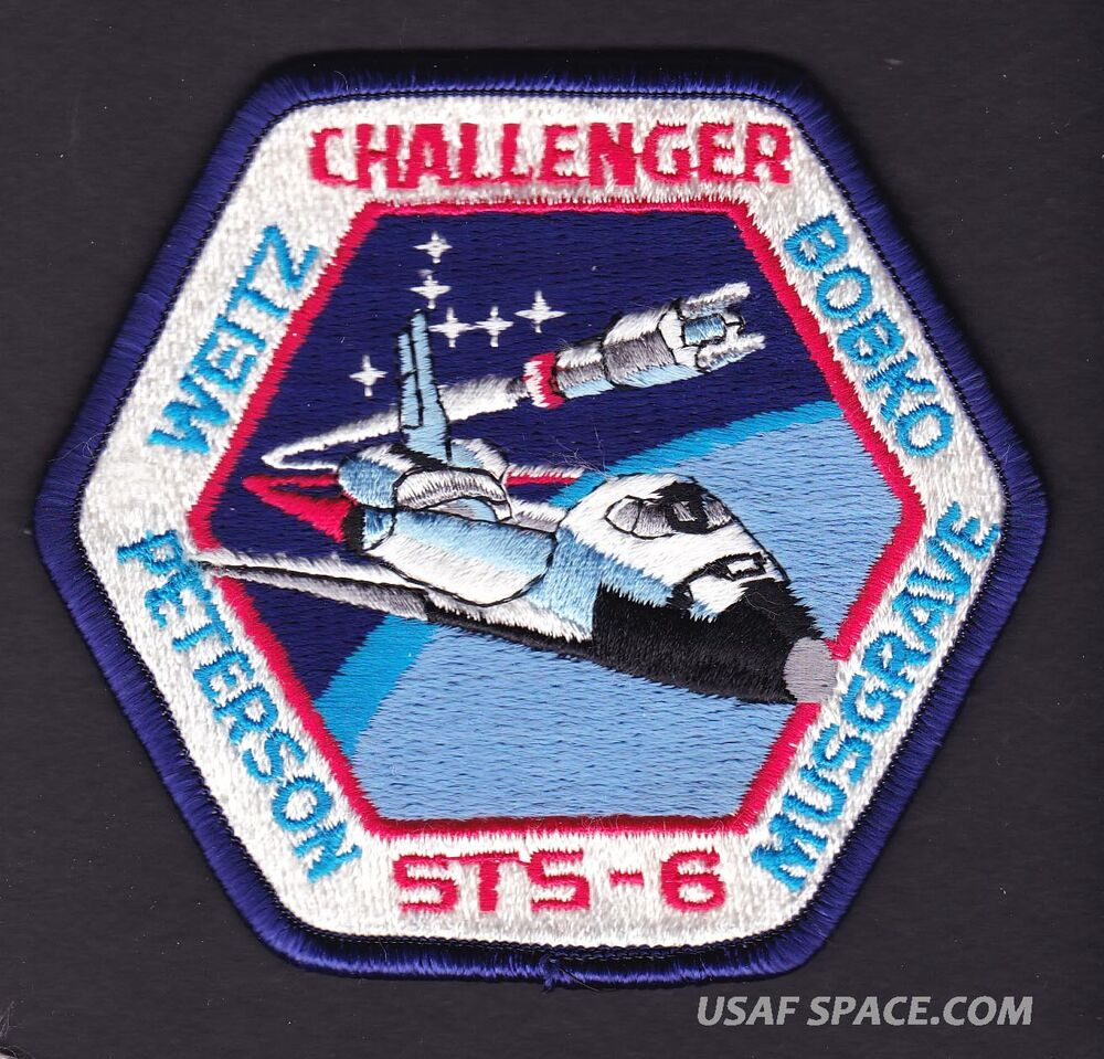 VINTAGE ORIGINAL LION BROS STS-6 Challenger NASA SPACE ...