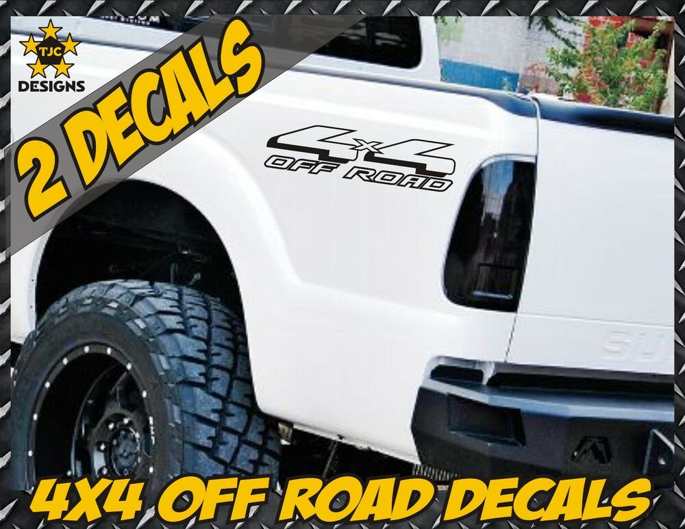 4x4 truck bed decal set matte black for ford f 150 super