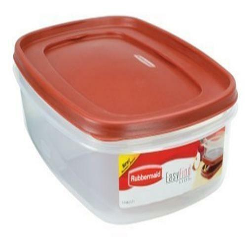 Rubbermaid 7J76 Easy Find Lid Rectangle 24-Cup Food