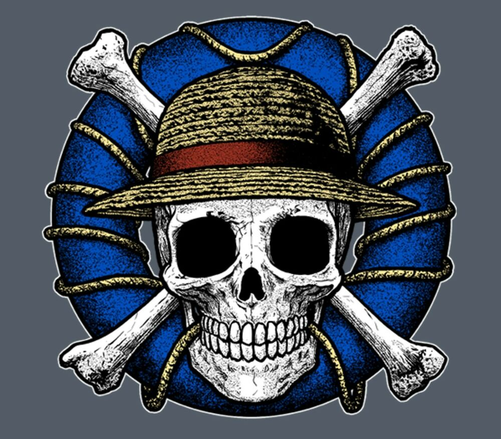 Monkey D Luffy Realistic Pirate Skull Jolly Roger Symbol One Piece