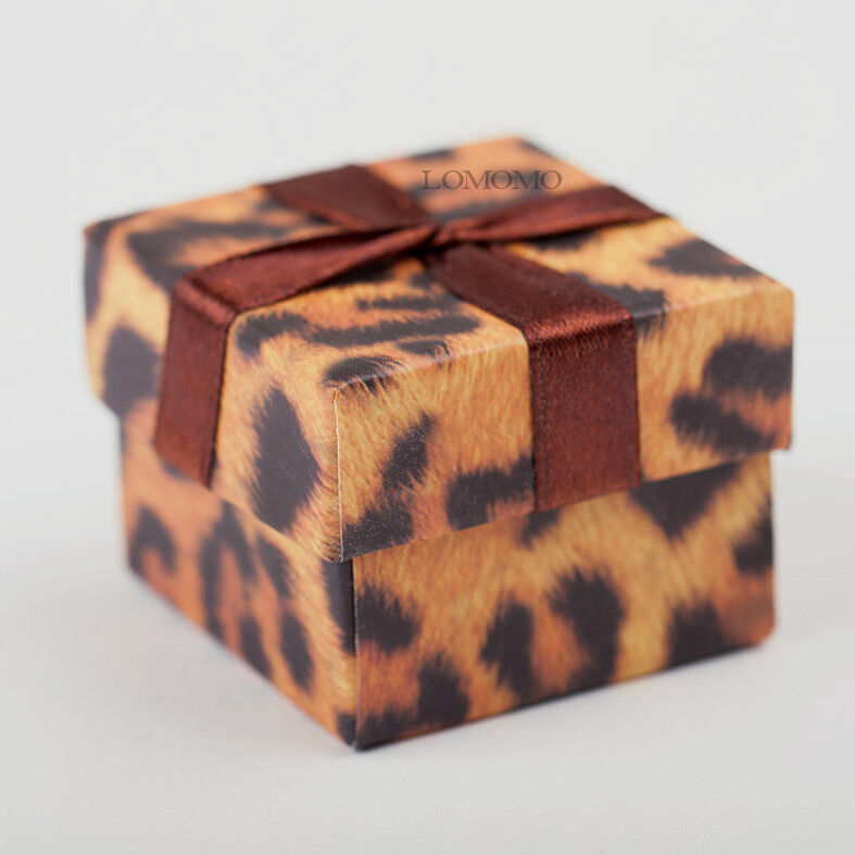 wedding ring box small leopard pattern ring gift box cardboard wedding 9935