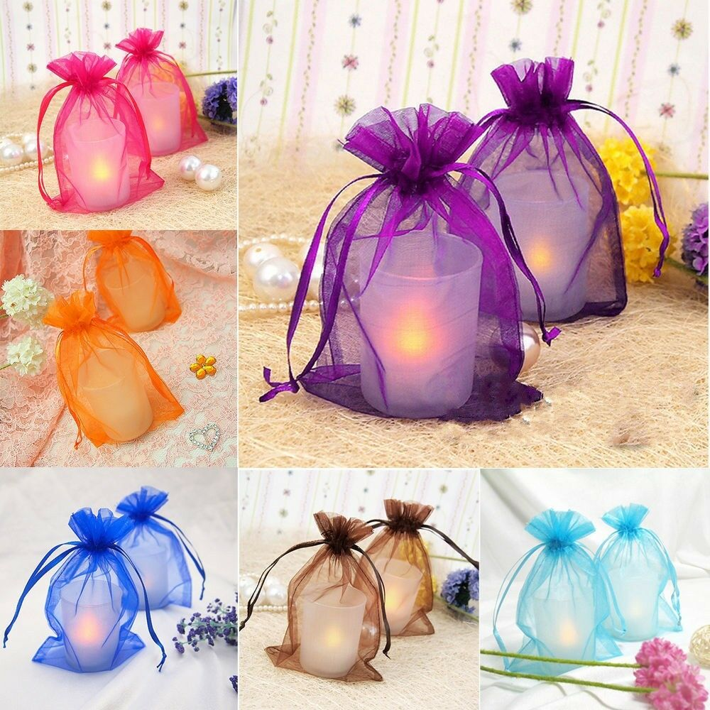 Wedding Gift Bag Ideas: 30/100pcs Sheer Organza Wedding Party Favor Decoration