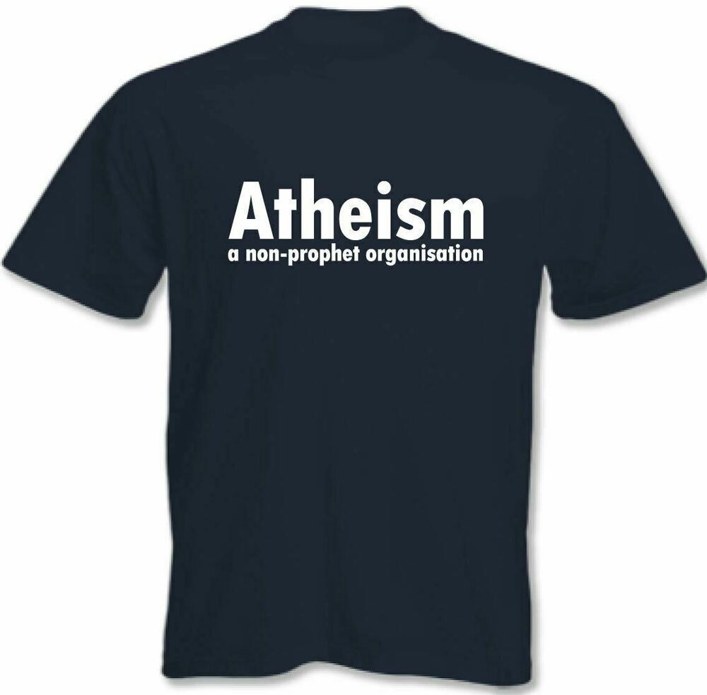 Atheism a non profit organisation mens funny atheist t for Non profit t shirts