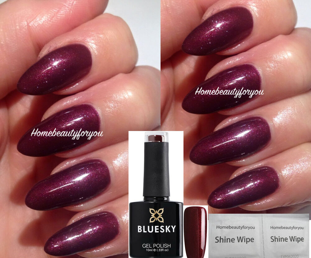 BLUESKY DARK LAVA 80537 DEEP BURGUNDY RED NAIL GEL POLISH LED UV ...