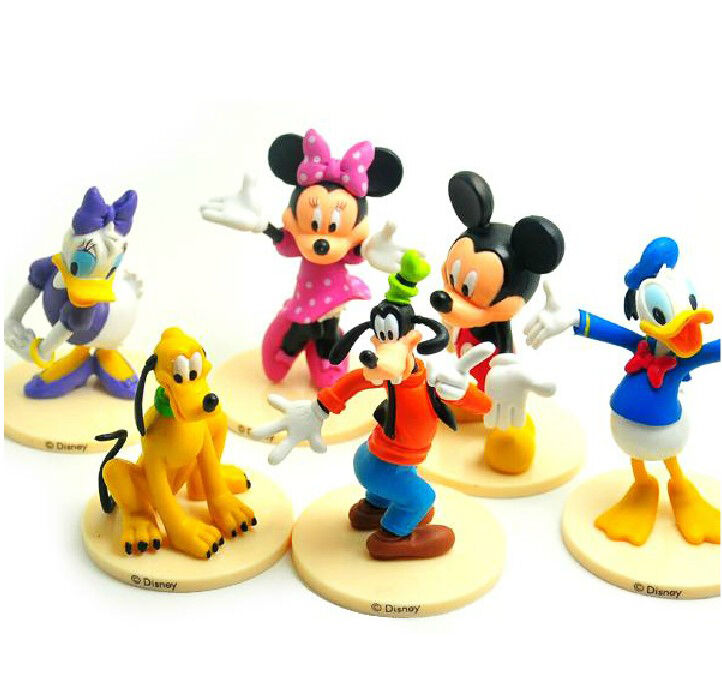 Cake Decoration Figures : 6PCS MICKEY MOUSE CLUBHOUSE Figure Set Mickey Minnie Goofy ...