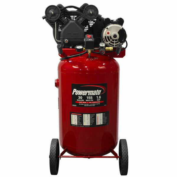 Powermate 1 6 Hp 30 Gallon Belt Drive Cast Iron Air