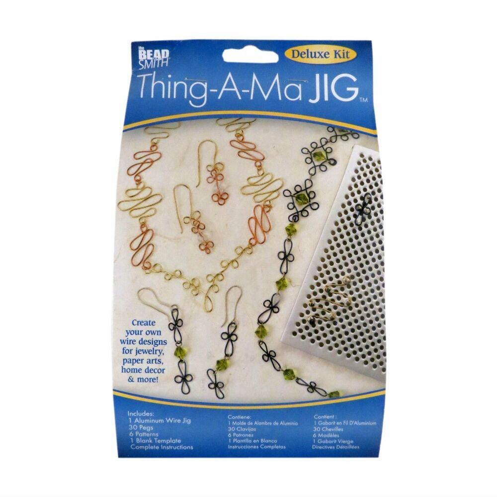BEADSMITH THING-A-MA JIG DELUXE BEADING WIRE WORKING KIT ...