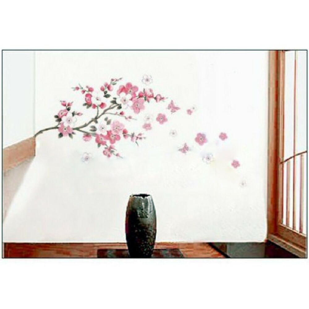 Sakura removable wall sticker mural decal art diy home for Diy wall photo mural
