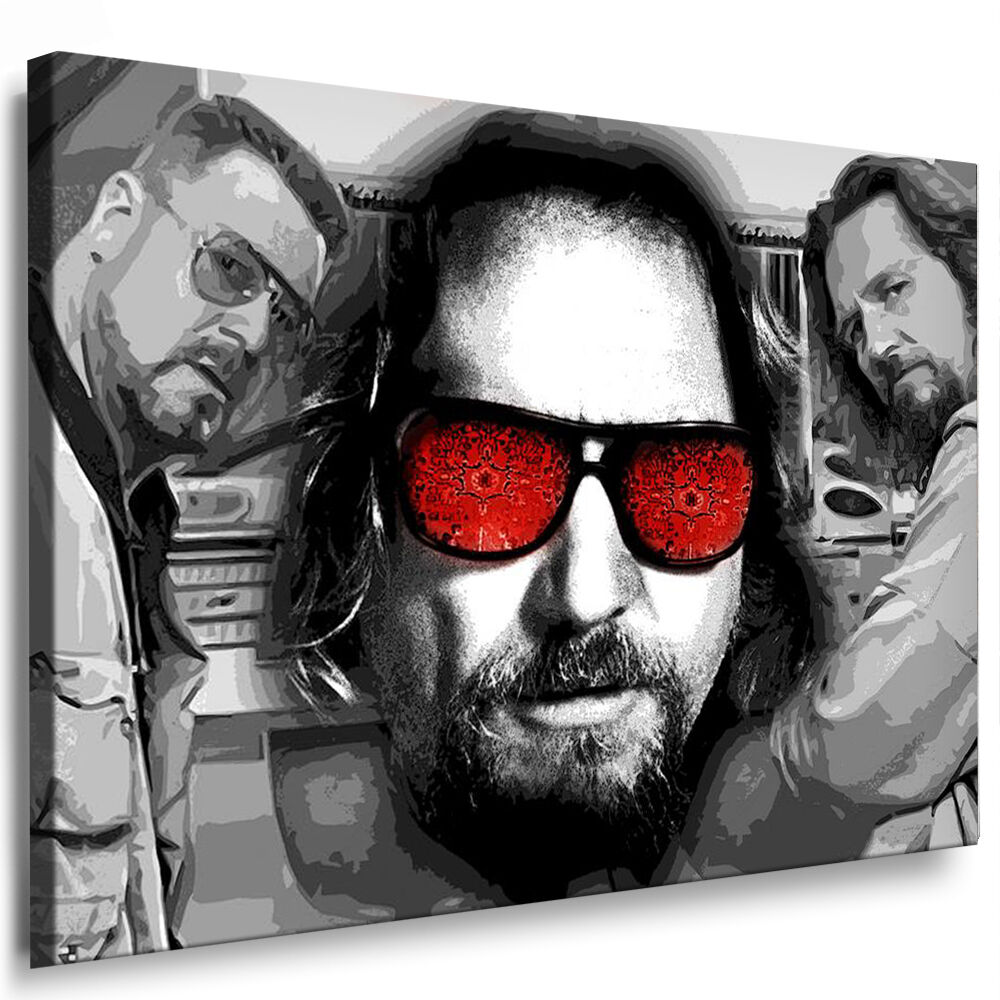 leinwand bild big lebowski bilder mit keilrahmen xxl kunstdruck kein poster ebay. Black Bedroom Furniture Sets. Home Design Ideas