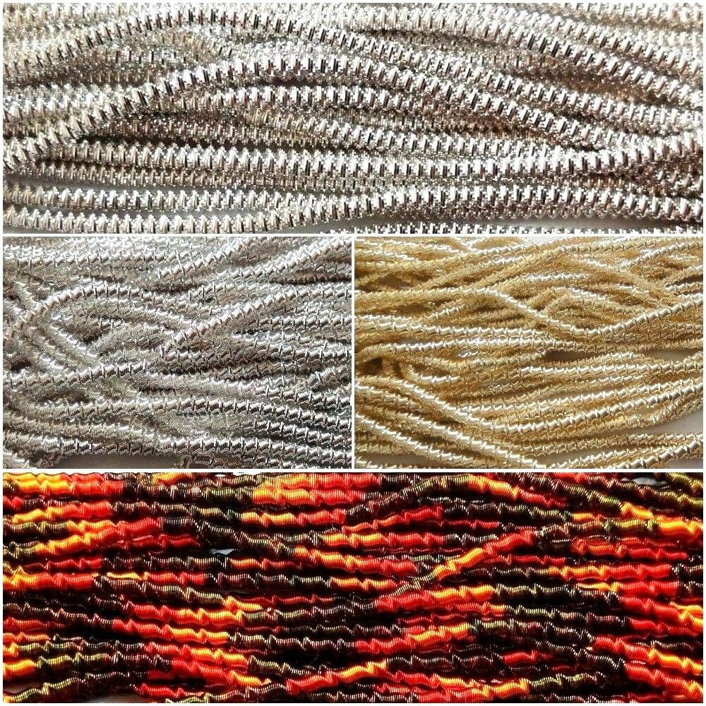 THICK Check Rough French Metal Purl Wire Gimp Coil Bullion Cord ...