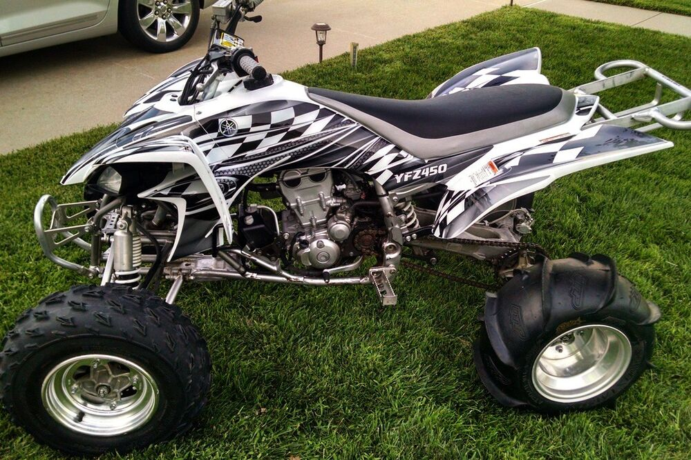 Yamaha yfz 450 graphics 2003 2008 deco kit 2500 metal for 2008 yamaha yfz450