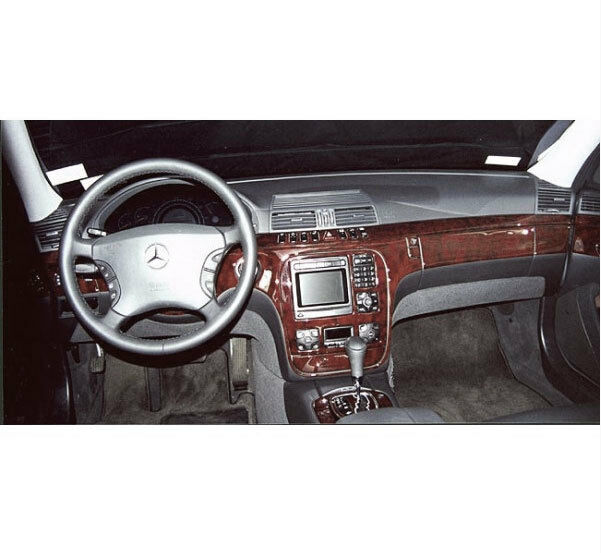 Wood Dash Trim Kit 35 Pcs Fits Mercedes Benz S Class 2000 2004 Long Body Ebay