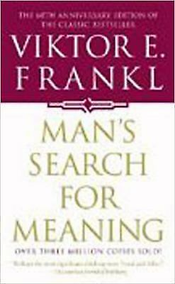 a mans search for meaning Review: viktor frankl's man's search for meaning has been recommended to me by everyone from tony robbins to tim ferris and for.