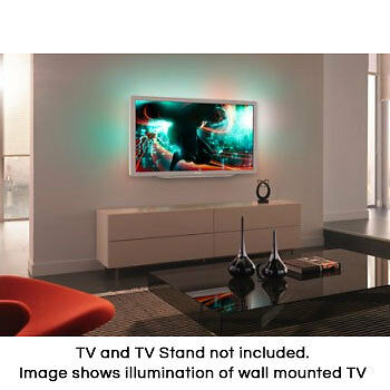 Wall Mounted Tv Fixtures : Wall Mounted TV Illuminating Lighting Kit (4 LED Strips) - BTG400 eBay