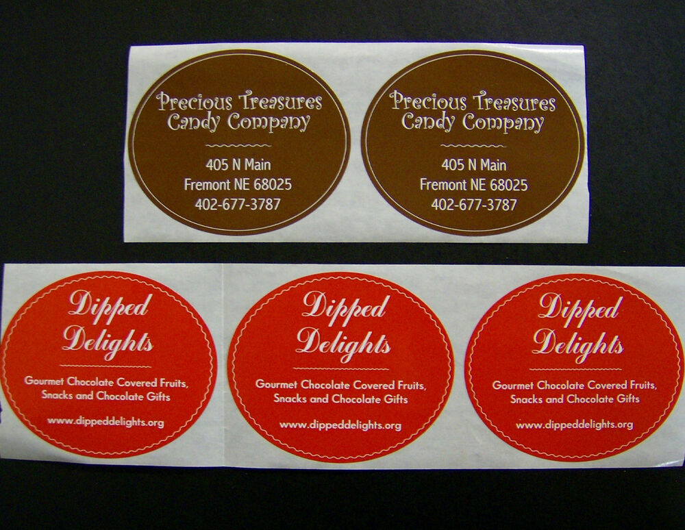 Labels: Custom Oval Labels 500 Printed Business Stickers 1 Color