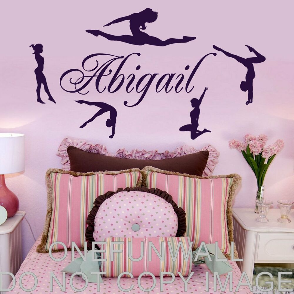 Personalized Name - Gymnasts Vinyl Wall Decal Gymnastics Dance  Decoru0026#039; | eBay
