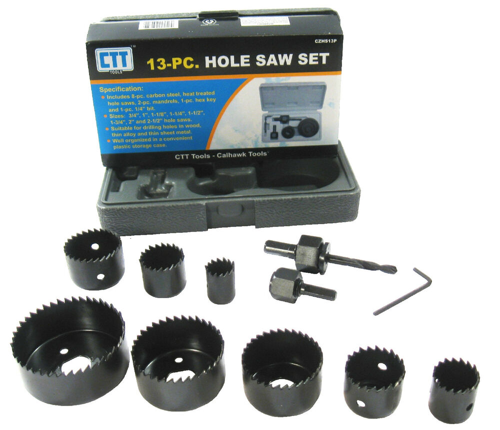 13pc 3 4 Quot To 2 1 2 Quot Hole Saw Set Door Knob Lock Drill Ebay