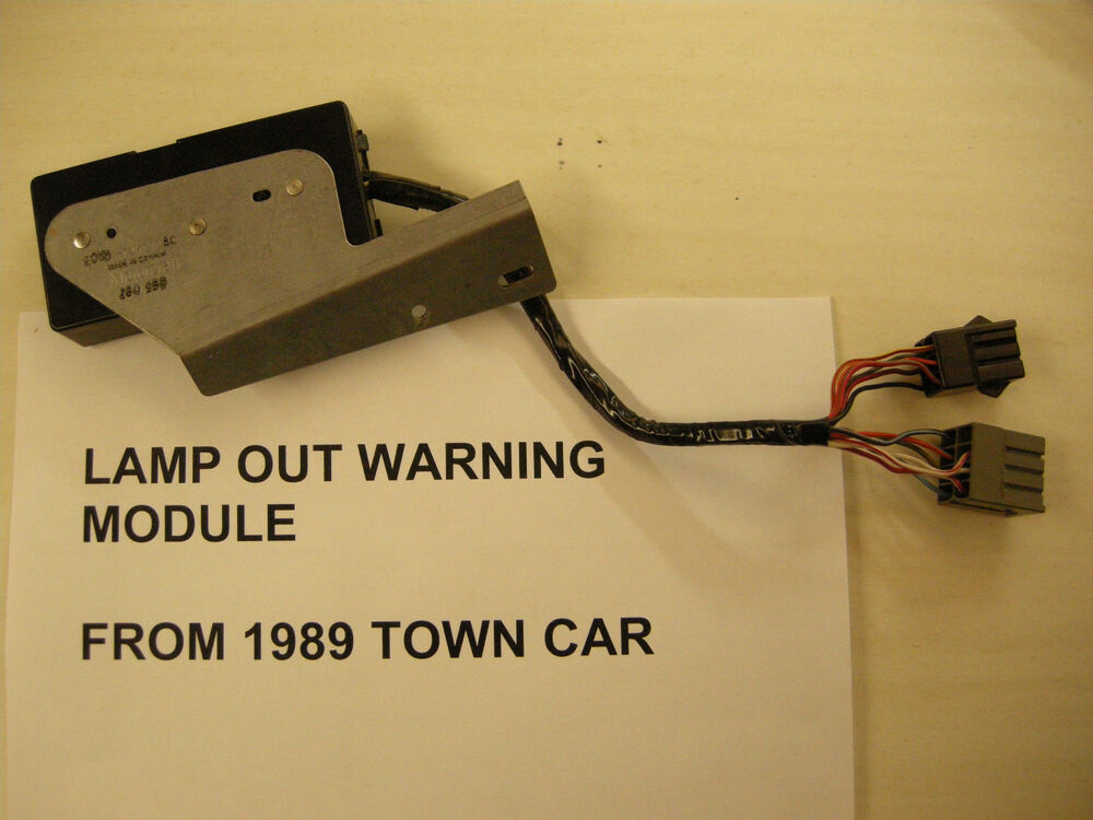 80 83 84 85 86 87 88 89 Lincoln Town Car Lamp Out Warning Module E0vb