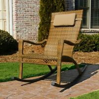 "TORTUGA OUTDOOR MARACAY PATIO ROCKING CHAIR 22.5"" ALL-WEATHER WICKER - DVTO"