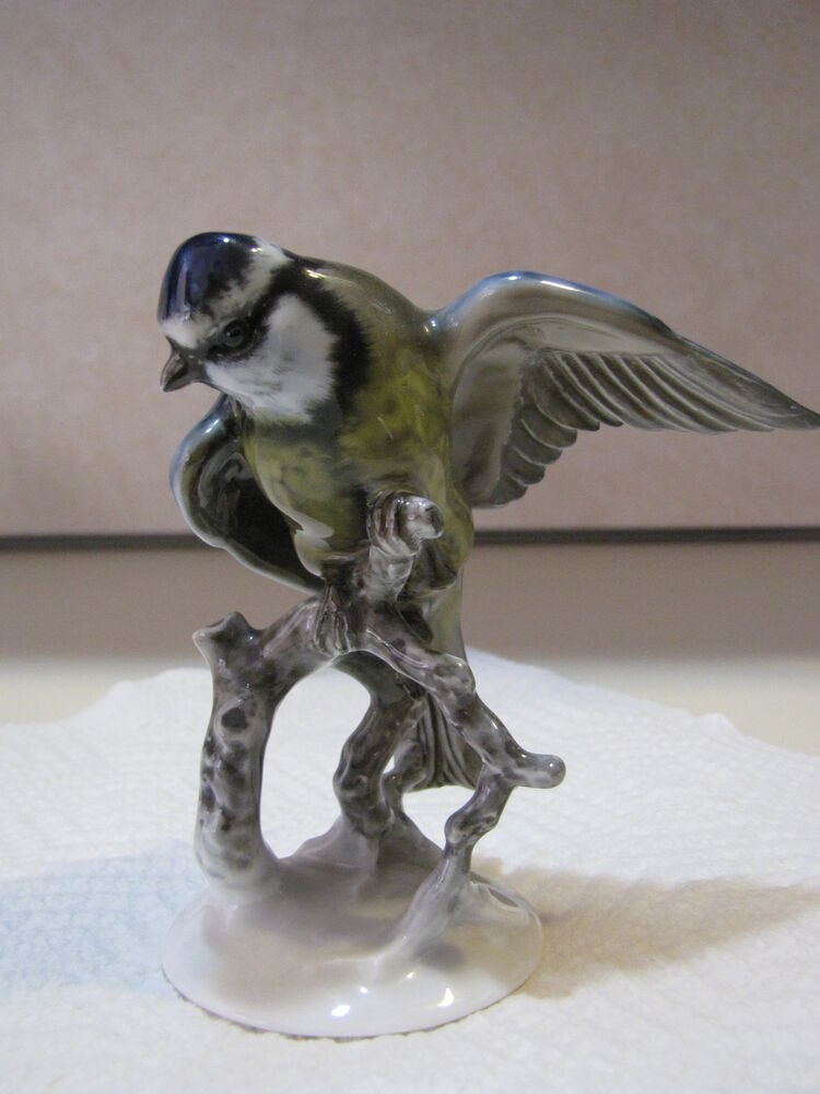 Rosenthal Porcelain Blue Bird Figurine By F Heidenreich