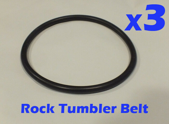 3 Replacement Drive Belts For Chicago Electric 3lb Drum Rock Tumblers 674 Ebay
